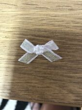 100 RIBBON BOWS WITH BEADS OPAL