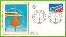 1976-enveloppe Soie 1°Jour**Concorde-Rio de Janeiro--Obl.Paris-Timbre-Yv.PA.49