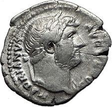 Hadrian  117-138AD Rare Silver Ancient Roman Coin Abundantia Prosperity  i58497