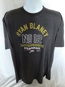 Ryan Blaney Team Penske Racing #12 Menard's 2XL T-shirt NASCAR