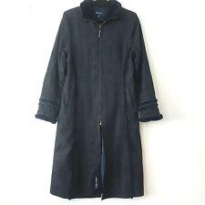 Kronk Denim Coat Faux Fur Cuffs and Collar 3/4 Zip Side & Inside Pockets Size M