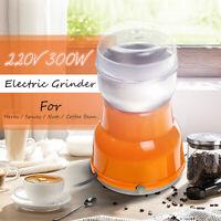 300W Electric Grain Grinder Milling Grind Coffee Bean Nut Kitchen Manual Machine