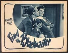 Jerome Cowan kissing Faye Emerson Find the Blackmailer RR 45 lobby card 1566