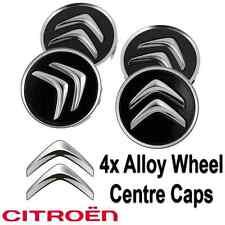 4x Citroen Alloy Wheel Centre Hub Caps in Black C1 C3 C4 DS3 60mm Most Models