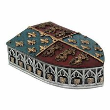 Medieval Times Heraldry Royal Coat of Arms Shield Trinket Box Collectible