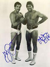 "AWA Jumping Jim Brunzell & Greg Gagne ""The High Flyers"" Auto. B/W 8x10 W/COA"