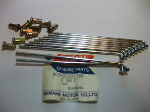 NOS Yamaha 74-76 YZ80 OEM Spockes & Nipples Outer 2 Set 10 462-25397-90