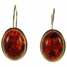 Beauty Amber Sterling Silver Fine Earrings