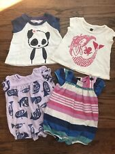 TEA Girls Clothing Lot Rompers & Tops 3-6 Months