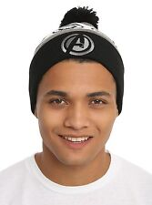 Marvel Avengers: Age Of Ultron Pom Beanie  New With Tags  Grey Black White