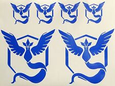 6x Pokemon Go Team Mystic Symbol CAR cell phone Laptop Vinyl Decal Sticker GPS