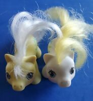 Vintage My Little Pony Newborn Baby Twins Big Top & Toppy Set of 2 1987 MLP