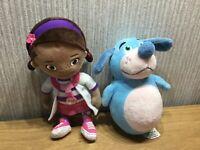 Disney Doc Mcstuffin Plush Bundle X2 Soft Toy Joblot Boppy Collectable Kids TV