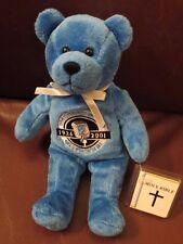 HOLY BEARS ~ 90.1 FM WMBI ~ 75TH ANNIVERSARY BEAR ~  2001 ~ HANG TAG + Tush tag