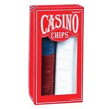 150 Basic Plain Red White Blue Casino Poker Chip Set Night Party Vintage Style