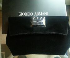 Giorgio Armani BLACK VELVET EVENING BAG