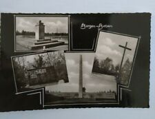 Bergen Belsen Postcard. Real photo. Multi View