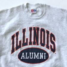 Vintage University of Illinois Alumni Gray Crewneck Sweatshirt Shirt Large