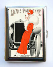Cigarette Case id case Wallet La Vie Parisienne Flapper Car