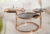 Designer Couchtisch Rund Kupfer Schwarz Tisch Beistelltisch REPRO Art Deko NEU
