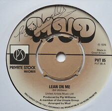 "MUD - Lean On Me - Excellent Condition 7"" Single Private Stock PVT 85"