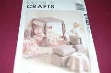 McCalls Pattern # 8140 - Fashion Doll Barbie Bedroom & Living Room Furniture NEW