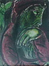 """MARC CHAGALL BIBLE """"Hiob in desperation"""" HAND NUMBERED LITHOGRAPH M254"""