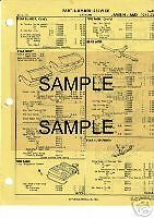 1973 1974 1975 RAMBLER HORNET BODY PARTS LIST PART NUMBERS CRASH SHEETS !