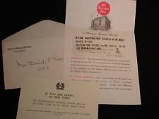 Vintage MOUNT ROYAL HOTEL Registration Form, Envelope, etc., MONTREAL, CANADA