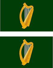set of 2x sticker vinyl car bumper decal outdoor flag leinster Ireland irish