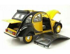 2cv Citroen Charleston 1982 jaune et noir Norev neuve en métal échelle 1:18,21cm