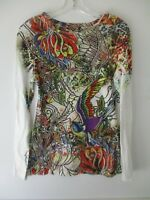 Floral Multi-Color Long Sleeve Next Era Couture Women's Size Small Blouse