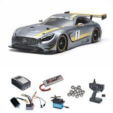 Tamiya Mercedes-AMG GT3 (TT02) 1:10 Kit Brushless-Edition mit Lager - 58639BLSET