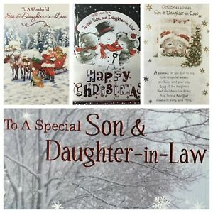 """SON AND DAUGHTER IN LAW CHRISTMAS CARD 5.5"""" x 7.5"""" ( XMAS1)"""