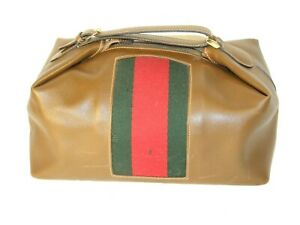 Gucci Travel Toiletries Bag vintage leather cosmetic Wash Bag  1960`s 1970`RARE