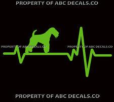 Heart Beat Line Dog Lakeland Terrier Black Tan Adoption Rescue Car Vinyl Decal