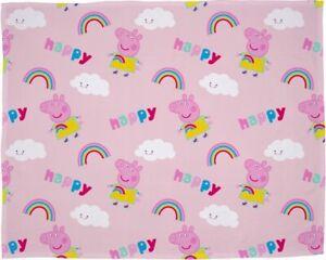 Official Peppa Pig Happy Storm Fleece Blanket Throw