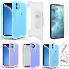 For iPhone 11/11 Pro Max Transparent Defender Case w/Screen & Clip Fits Otterbox
