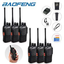 EU 6Pcs Baofeng BF-888S UHF 400-470MHz Amateur Ham Radio Portable Talkie Walkie