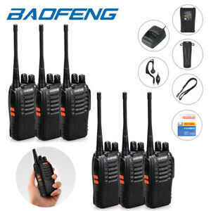 Baofeng BF-888S UHF 16CH Amateur Ham Radio Portable Talkie Walkie Paquet de 6
