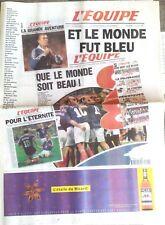 L'Equipe Journal 21/12/1998; Rétrospective de l'année 1998, le monde fut bleu