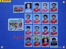 Panini★WM 1986 WorldCup WC 86★Team Bulgarien komplett / Bulgaria complete set