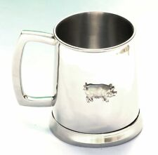 Sow Pig Tankard Metal Pint Drinks Mug Farm Yard Gift Animal Present
