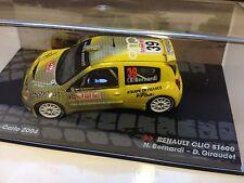 1/43 RENAULT CLIO S1600-RALLYE MONTE CARLO 2004 BERNARDI-IXO RALLY CAR-S 1600