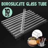 10PCS 150mmx10mmx1mm Length Thick Wall Borosilicate Lab Tube Blowing Glass