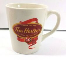 Tim Hortons 40th Anniversary Coffee Cup Collectible Thank You Mug
