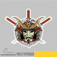 Casco Antiguo Samurai señor de la guerra y Ventana Pegatina Calcomanía Vinilo Coche Furgoneta Bici 2549
