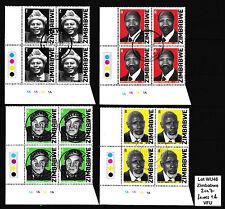 Zimbabwe 2007 Heroes 1a Cylinder blocks, VFU (wu46) (Sheet Corner)