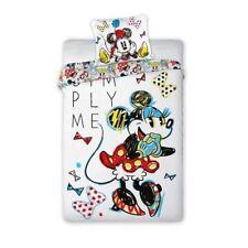 Minnie Mouse Disney Parure de lit 1 personne Housse de Couette 140x200 + Taie