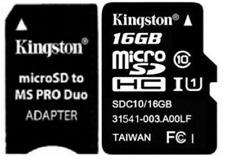 16GB Memory Stick C10 Kingston For PSP E1000 E1003 E1004 1000 2000 3000 3001